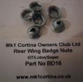 BD16 Badge nuts