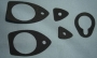 R25 - Door handle & boot lock gasket set 2 door