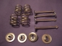 B6 - Brake shoe retaing pins / springs / clips  front drums & re