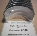 EN38 Big End Bearing Set STD