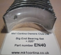 EN40 Big End Bearing Set .020""
