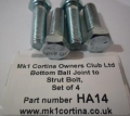 HA14 Bottom ball joint to strut bolt set
