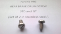 HB3 - Rear Brake Drum Screw, R/H Stainless