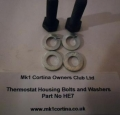 HE7 Thermostat housing bolts c/w washers