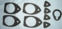 R26 - Door handle & boot lock gasket set 4-door